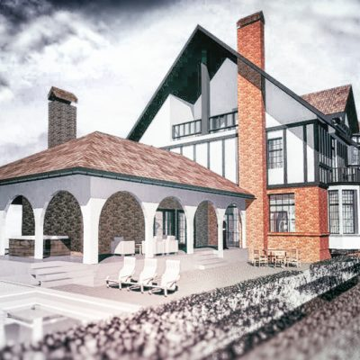 Propunere proiect arhitectura casa de vacanta realizat de echipa Eclectarte