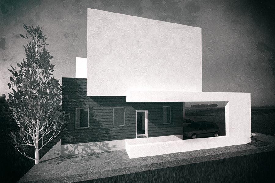 Proiect arhitectura locuinta privata Otopeni realizat de echipa Eclectarte