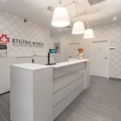 Proiect amenajari interioare clinica medicala Regina Maria Pitesti realizat de Eclectarte
