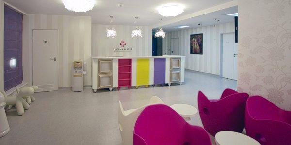 Proiect amenajari interioare clinica medicala Regina Maria realizat de Eclectarte